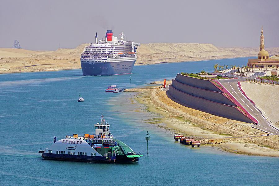 Queen Mary 2 Suez Crossing Photograph