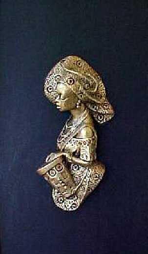 Queen Of Drums Sculpture by Chidi Okoye