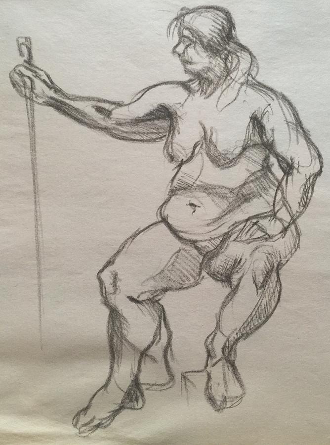 Queen Of Harvest  Drawing by Anastasiya Baron