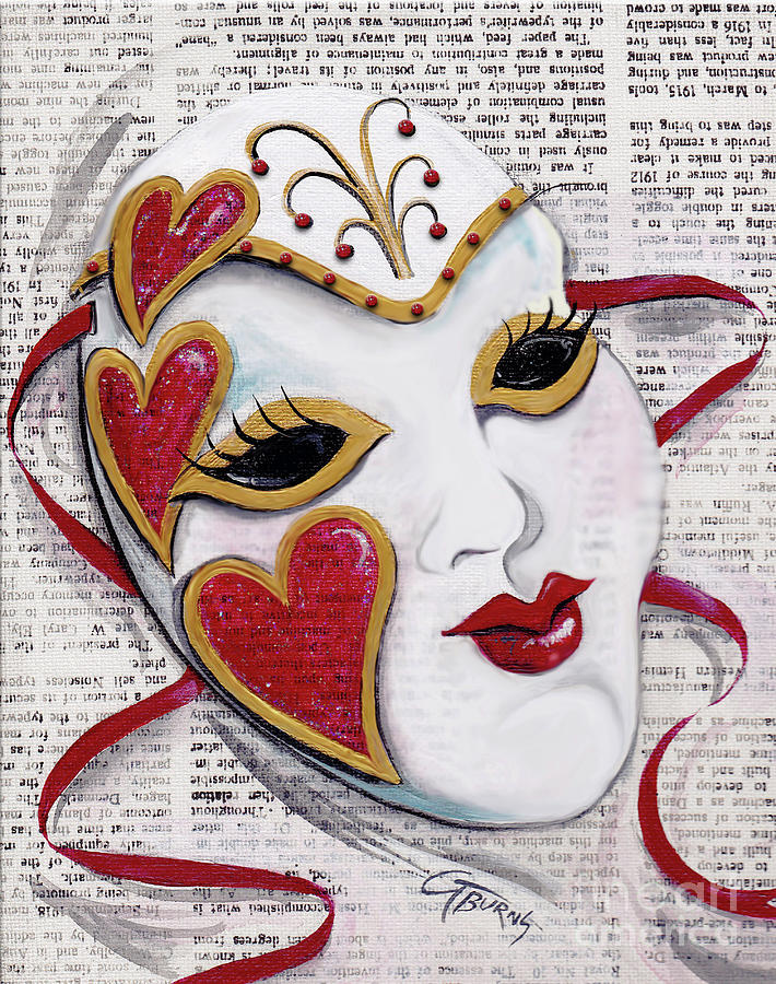 Queen of Hearts Mask by GG Burns
