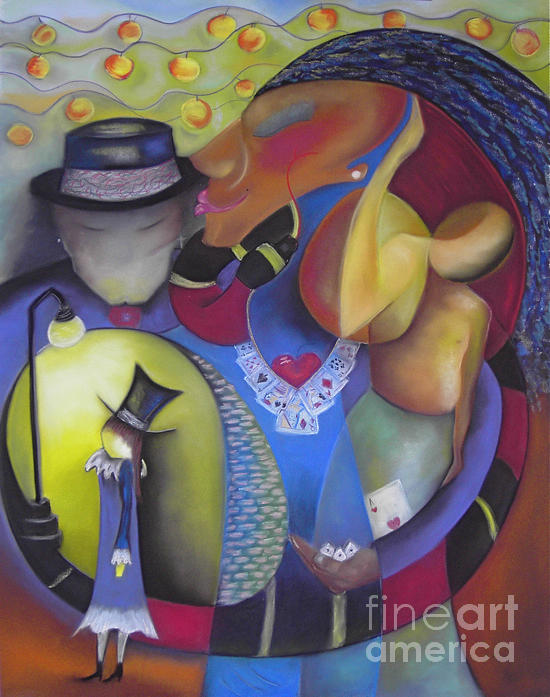 New Orleans Pastel - Queen Of Hearts by Tracey Levine