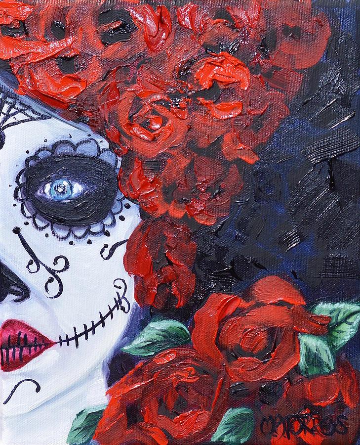 Dia De Los Muertos Painting - Queen Of Roses by Melissa Torres