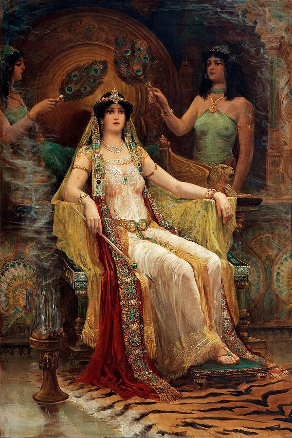 Slocombe Painting - Queen Of Sheba by Edward Slocombe