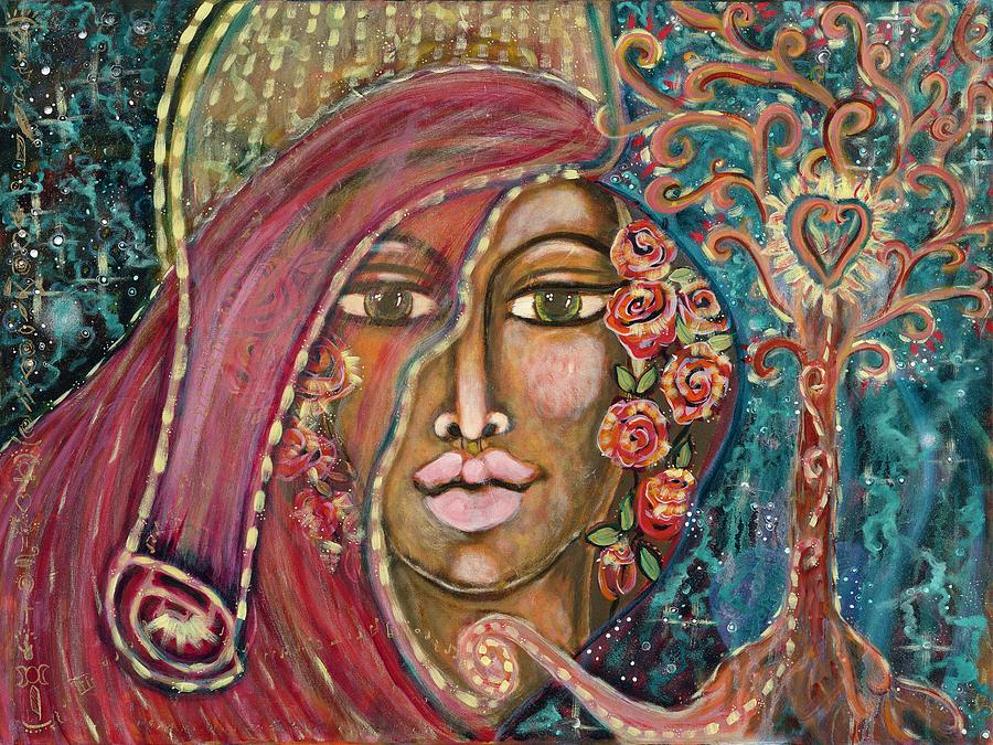 Cosmos Painting - Queen of the Cosmos by Evelyne Verret