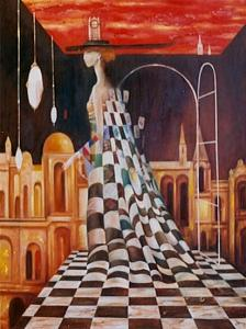 Sureal Painting - Queen Of The Games by Izya Shlosberg