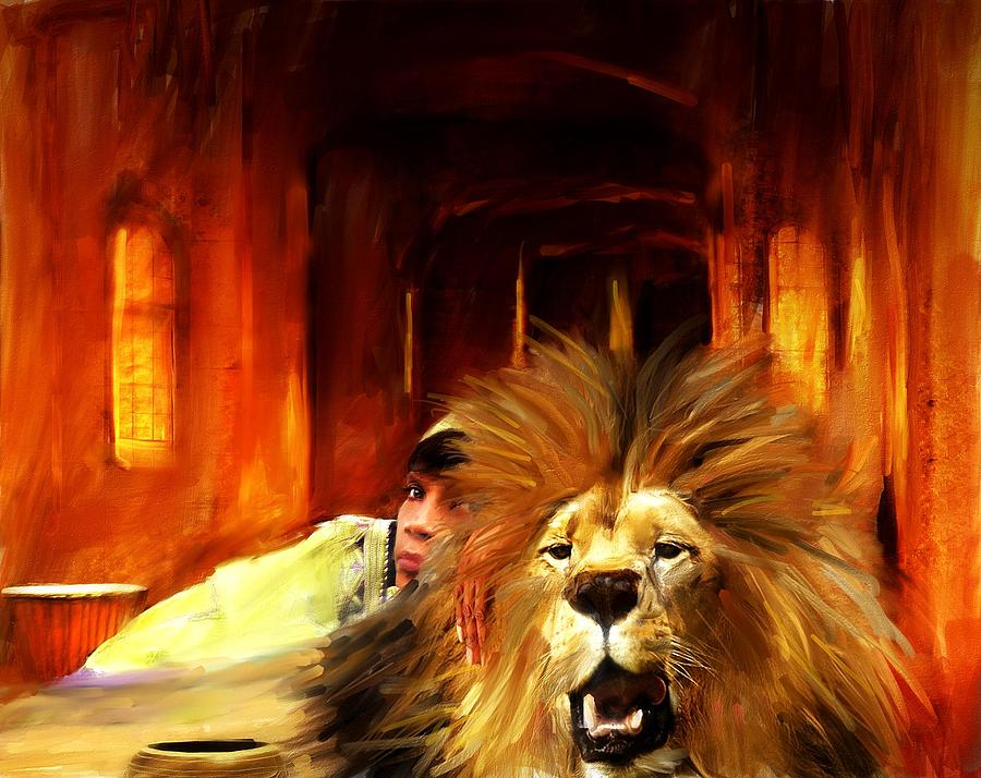 Queen Of The Lion Mixed Media by Jae Gregory