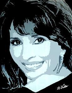 Queen Of The Soaps Susan Lucci Ala Erica Kane Painting by Richard La Valle