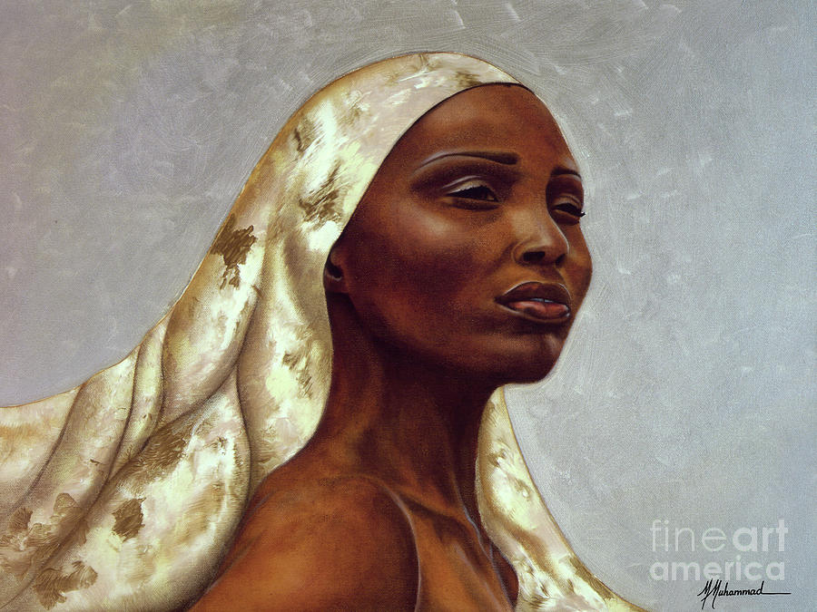Woman Painting - Queen Of Winter by Marcella Muhammad