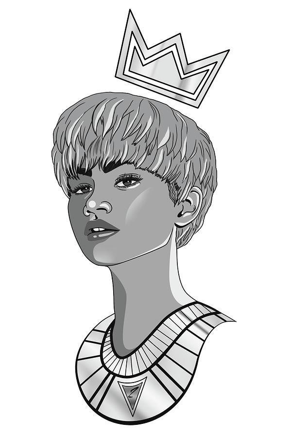 Zendaya Digital Art - Queen Zendaya by Kenal Louis