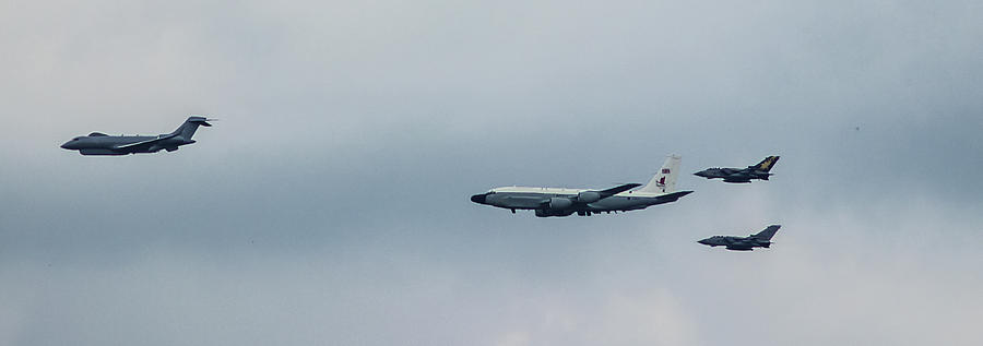 Plane Photograph - Queens Fly Past by Martin Newman