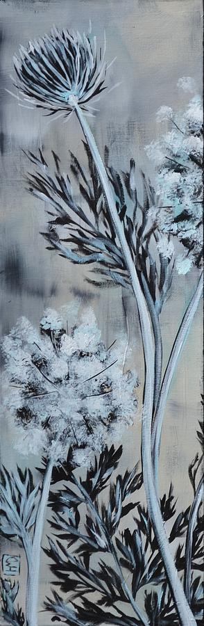 Queen Anne's Lace Painting - Queens Lace 1 by Holly Donohoe