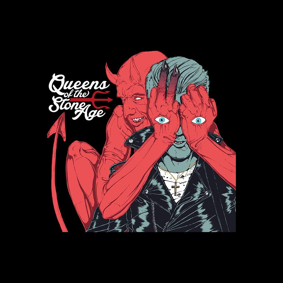Queens Of The Stone Age Digital Art - Queens Of The Stone Age by Raisya Irawan