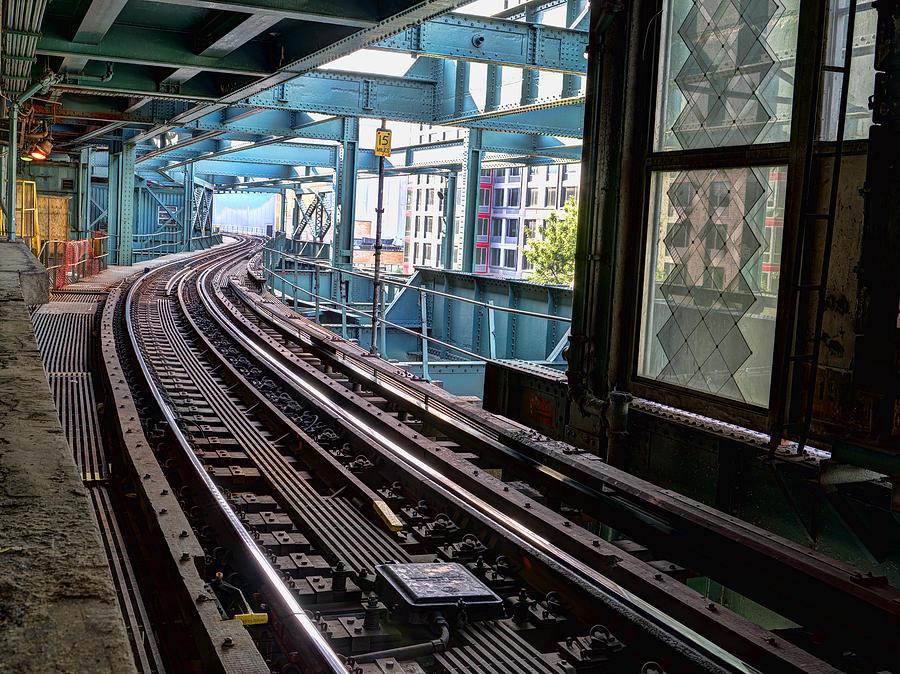 Subway Photograph - Queens Rails by Michael Tischler