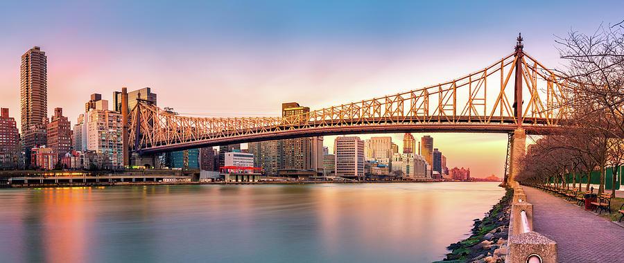 Ed Koch Bridge Photograph - Queensboro Bridge At Sunset by Mihai Andritoiu