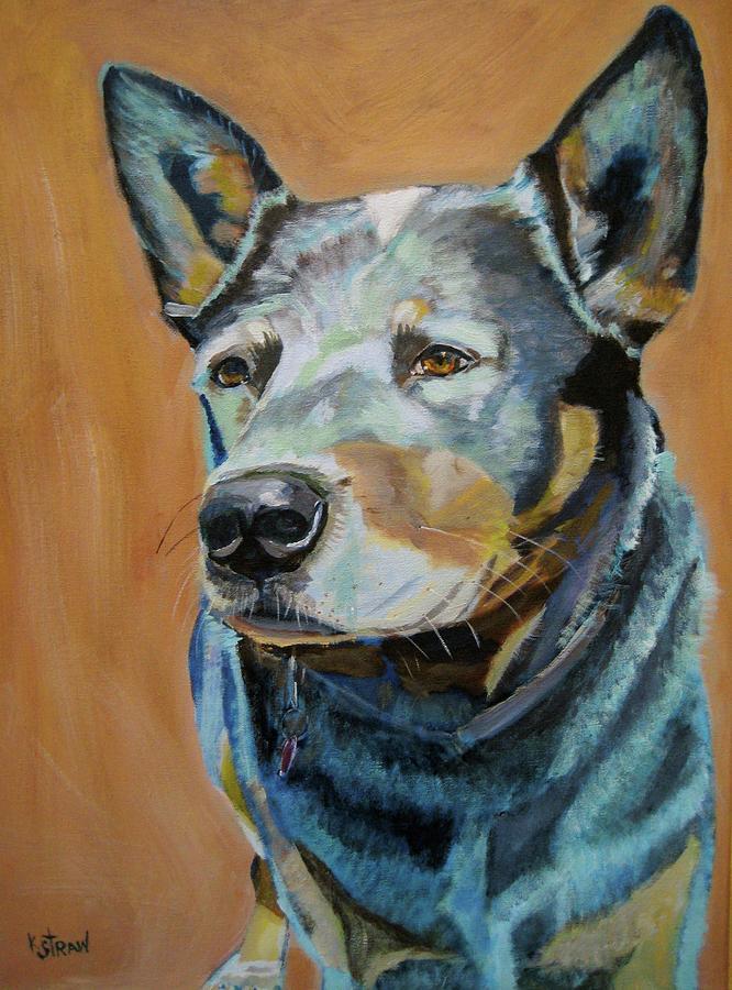 Queensland Heeler Painting - Queensland Heeler by Kellie Straw
