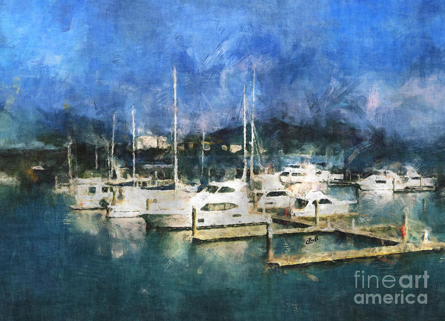 Boats Photograph - Queensland Marina by Claire Bull