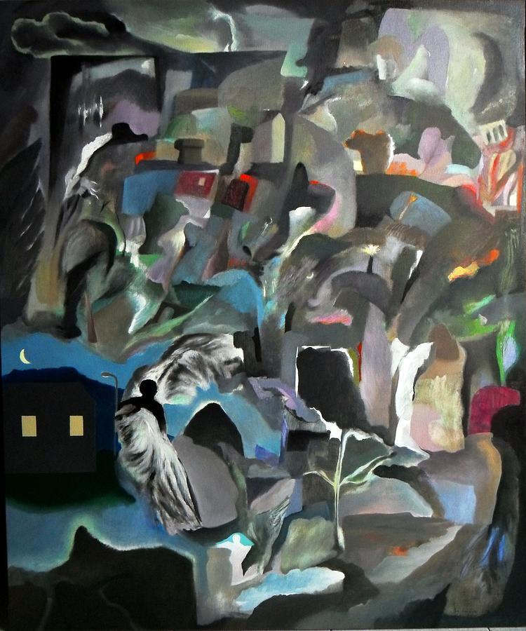 Angeli Painting - Quella Sera Che Uscendo Da Casa Divenni Un Angelo by Adolfo De Turris