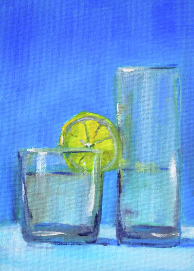 Beverage Painting - Quench by Nancy Merkle