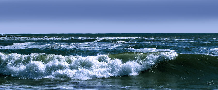 Nature Photograph - Quenching Fire Island by Diane C Nicholson