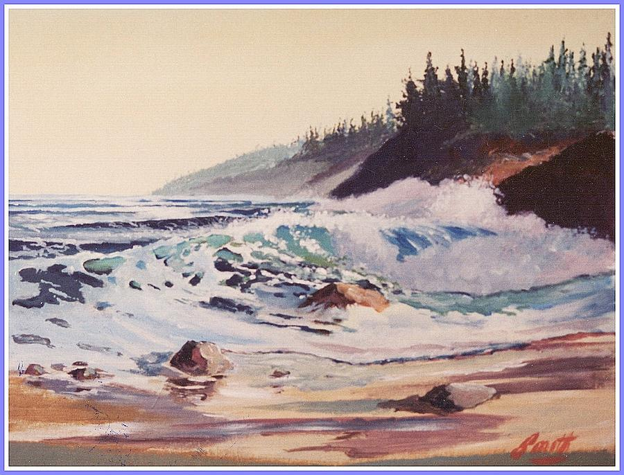 Seascape Painting - Quensland Beach by Barry Smith