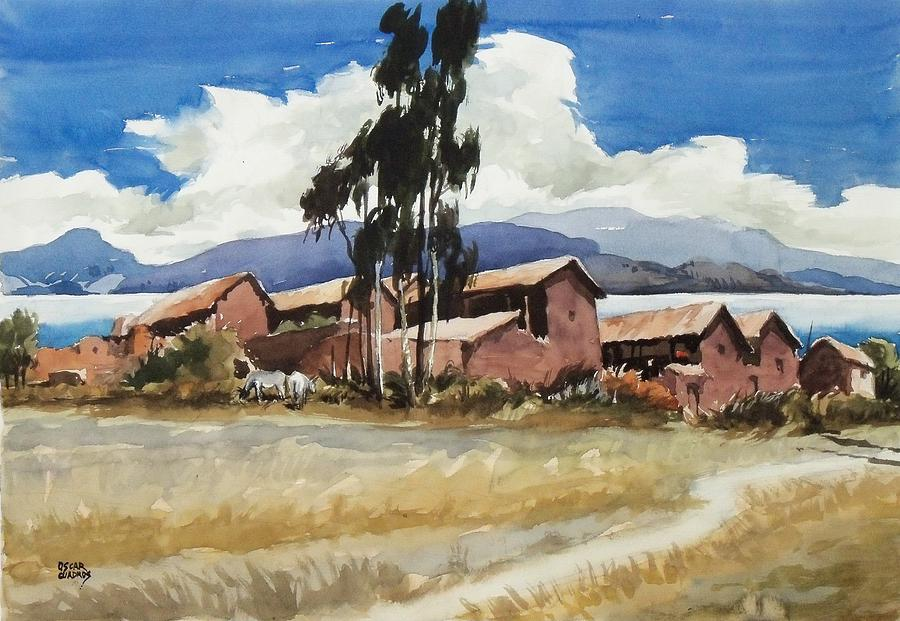 Bolivia Painting - Quenuani by Oscar  Cuadros