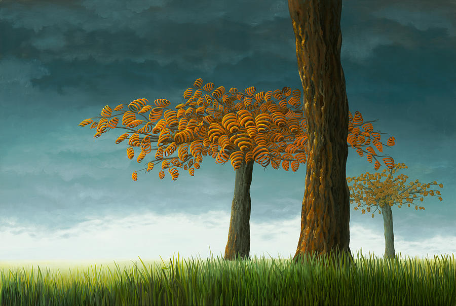 Tree Painting - Quercus Corymbion by Patricia Van Lubeck