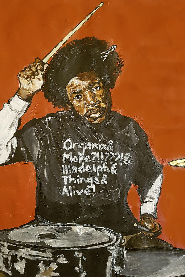 Questlove Painting - Questlove by Rachel Natalie Rawlins
