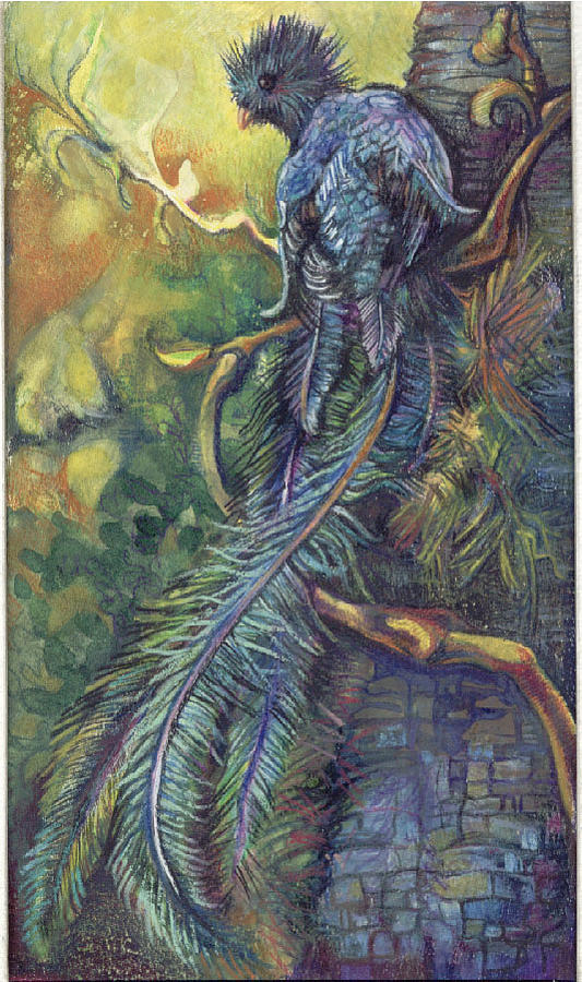Quetzal Painting by Lilian Barac