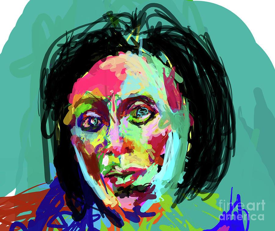 Christina Painting - Quick Attitude Study by James Thomas