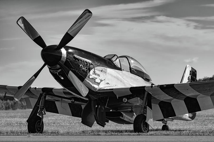 Military Photograph - Quick Silver In Black And White by Chris Buff
