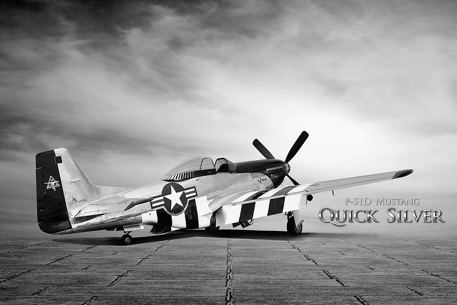 P-51 Digital Art - Quick Silver P-51 by Peter Chilelli