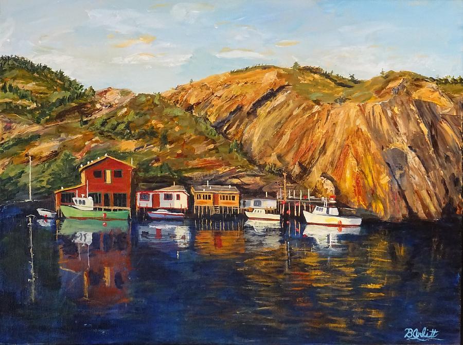 Quidi Vidi Painting - Quidi Vidi Sunset by Brent Arlitt