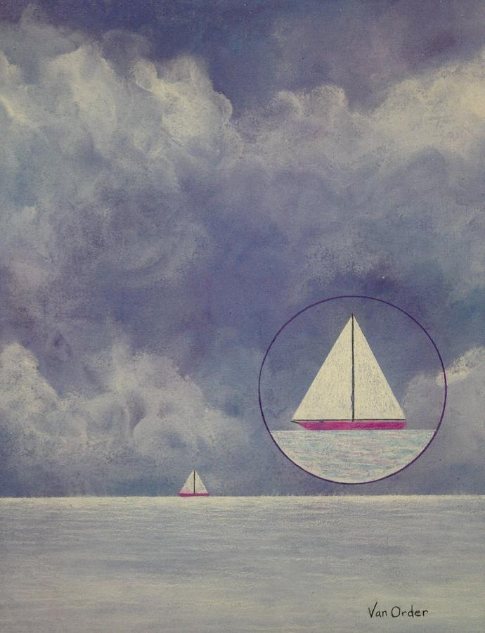 Sailing Mixed Media - Quiet Before The Storm by Richard Van Order