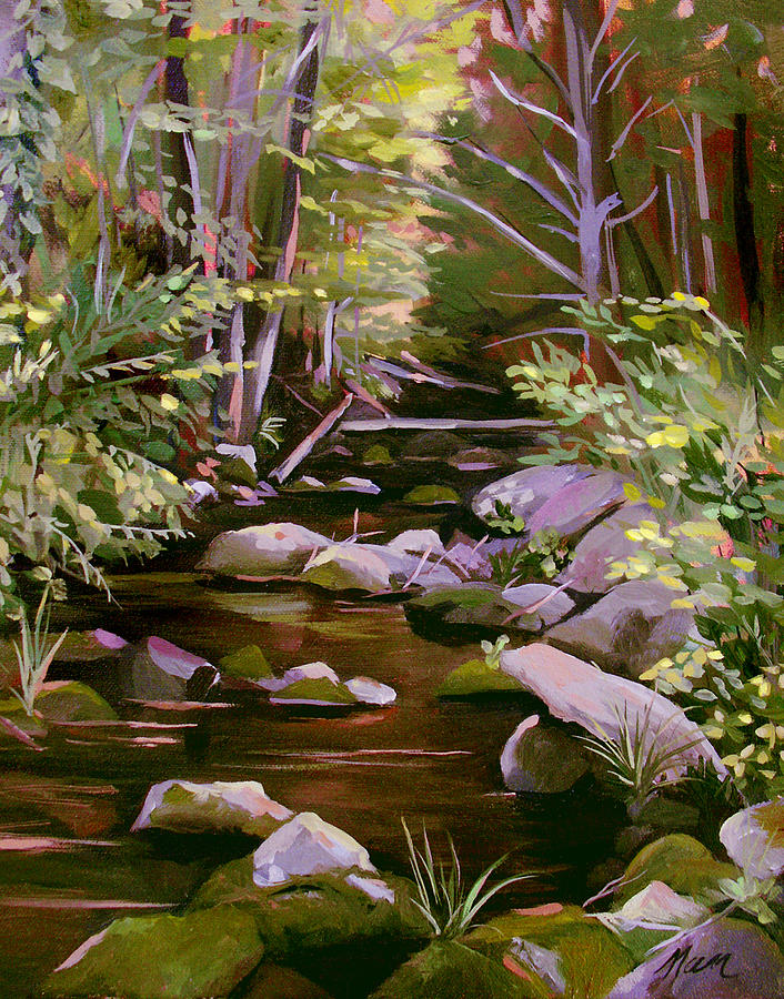 Peoples State Forest Painting - Quiet Brook by Nancy Griswold