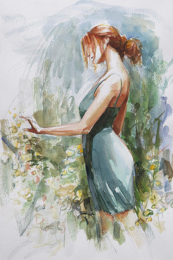 Garden Painting - Quiet Contemplation by Steve Henderson