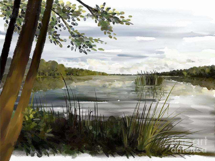 Painting Painting - Quiet Day By Lake by Ivana Westin