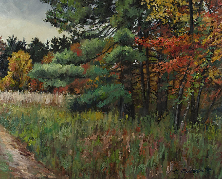 Fall Painting - Quiet Day by Mark Maritato