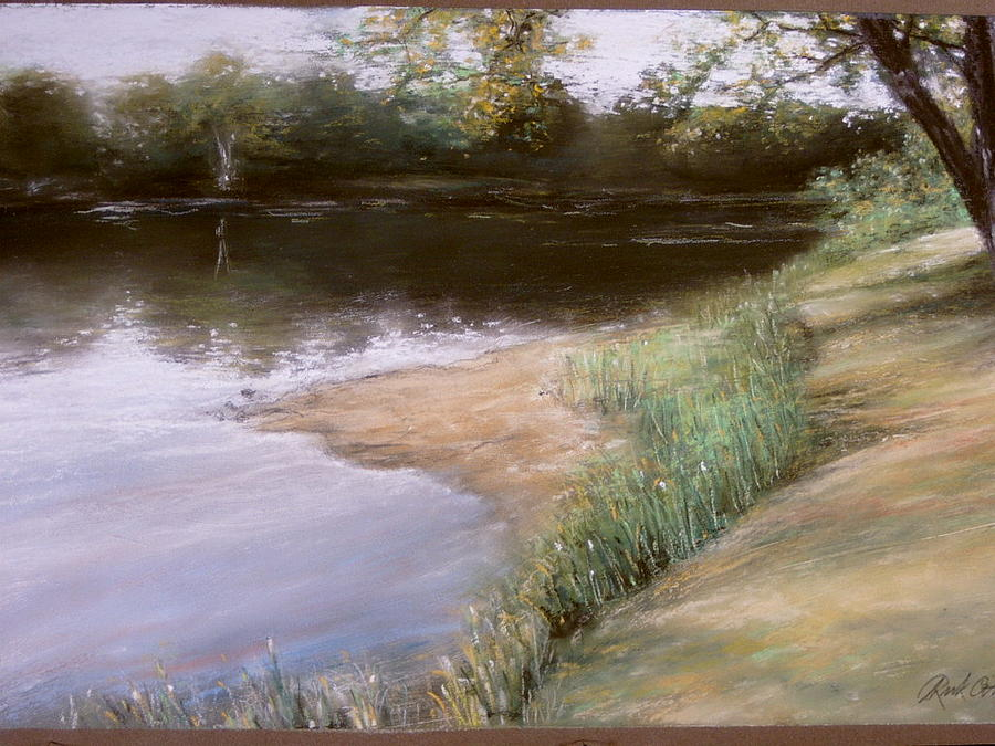 Pastel Painting - Quiet Day On The Menomonee by Rick Citta