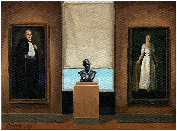 Art Museum Painting - Quiet Elegance - Art Museum by Linda Apple