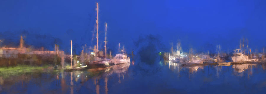 Ship Digital Art - Quiet Harbor II by Jon Glaser