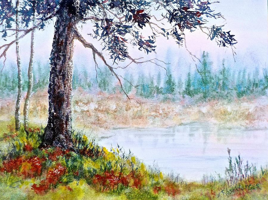 Watercolor Painting - Quiet Inlet by Carolyn Rosenberger