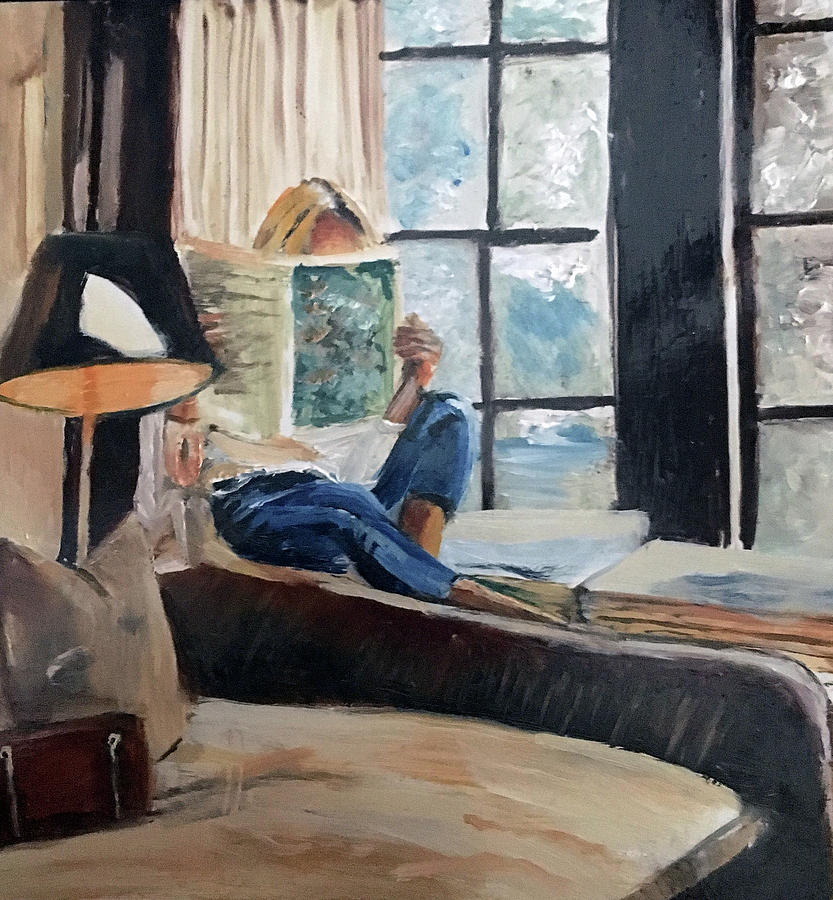 Girl Painting - Quiet Moment by Lynne Atwood