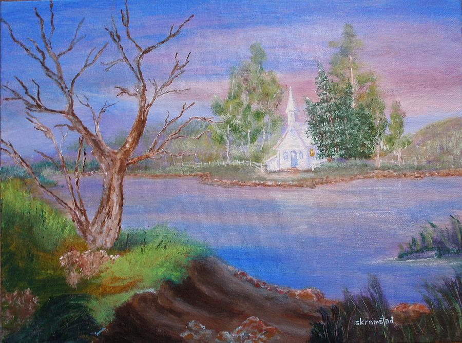 Acrylic Painting - Quiet Place by Rod Skramstad