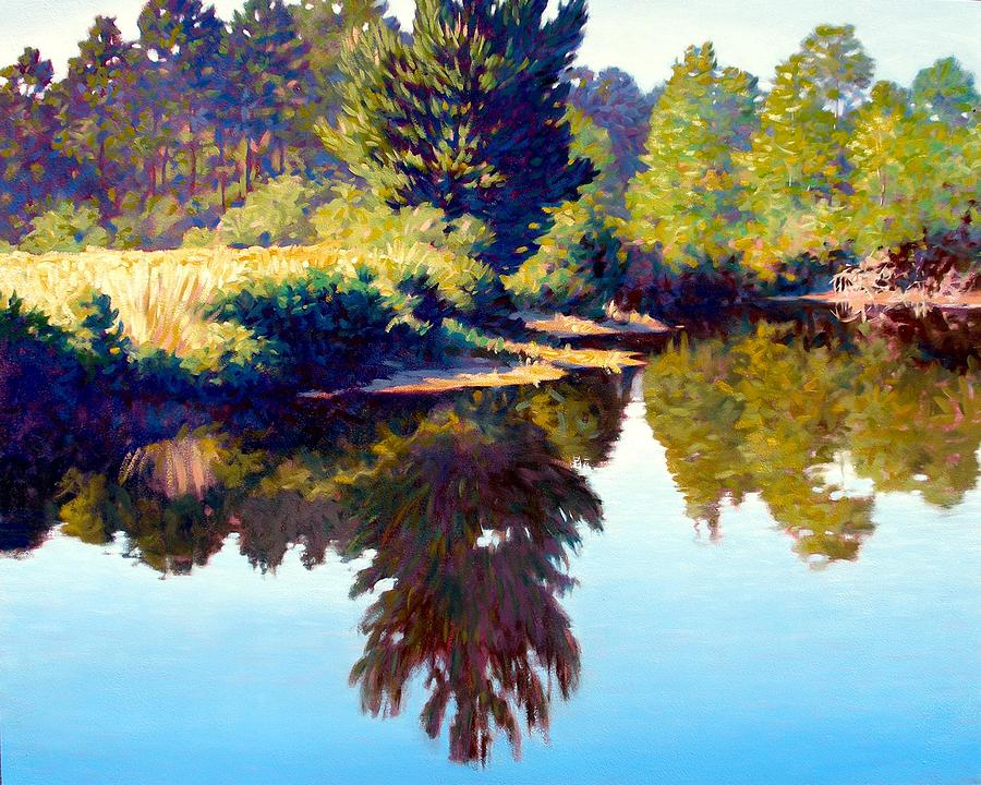 River Painting - Quiet Pond by Kevin Lawrence Leveque