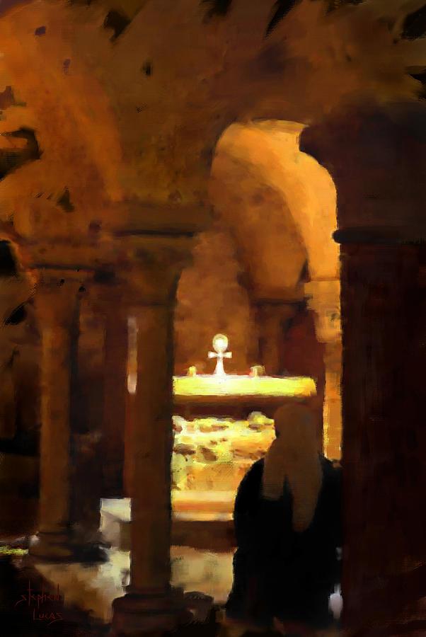 Prayer Painting - Quiet Prayers by Stephen Lucas