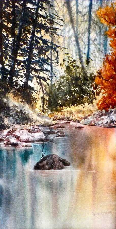 Watercolor Painting - Quiet Reflections by Carolyn Rosenberger