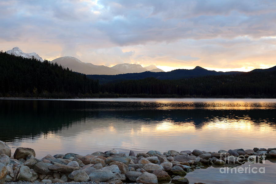 Landscape Photograph - Quiet Reflections On Patricia Lake by Maria Pogoda