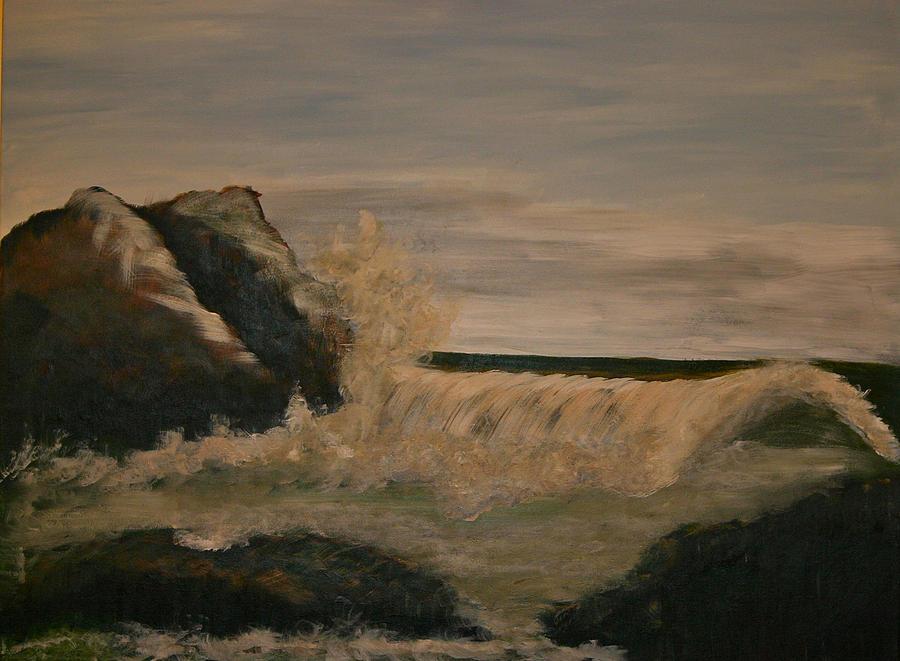 Ocean Painting - Quiet Storm by Gigi Desmond