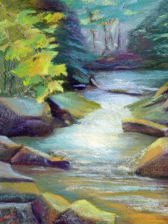 Quiet Stream Painting by Melanie Miller Longshore
