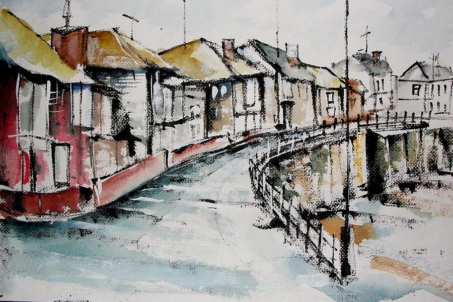 Landscapes Painting - Quiet Streets by Mrutyunjaya Dash